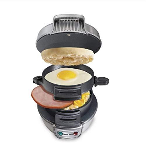 GJJSZ Elektrischer Ei Sandwich Maker Mini Gril Pfannkuchen Panini Backplatten Toaster Multifunktions Antihaft Hamburger Frühstücksmaschine