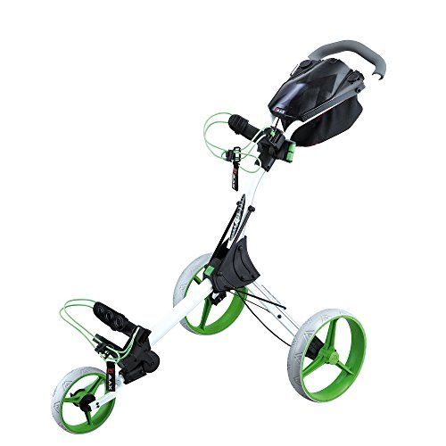BIG MAX IQ+ 3-RAD GOLFTROLLEY WHITE-LIME
