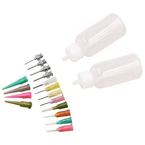 16pc Set Kit de Henna aplicador boquillas botellas pasta tatuaje cuerpo arte herramienta de dibujo