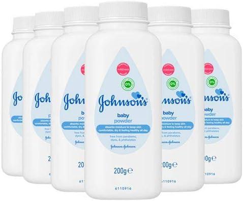 Johnson's Baby Powder Talc Talcum Soft Skin Care Protect Bottles - Pack of 6 x 200 G