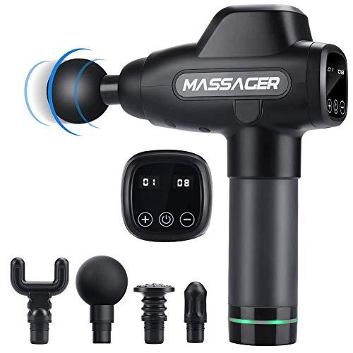 Massage Pistole, MANLI Muskel Massagegerät Massage Gun Handheld Muscle kabellose Percussion Massage Machine mit 6 verschiedene Massageköpfe