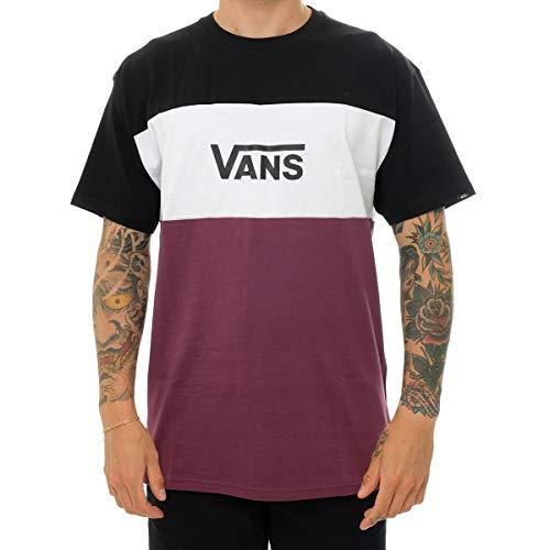 Vans Retro Active SS Camiseta, Prune-Black, M para Hombre