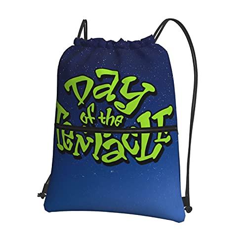 Bolsa de gimnasio con cordón para el día del tentáculo, mochila deportiva grande, cuerda de natación, con cordón de polietileno, para mujeres, hombres, viajes, playa, escuela