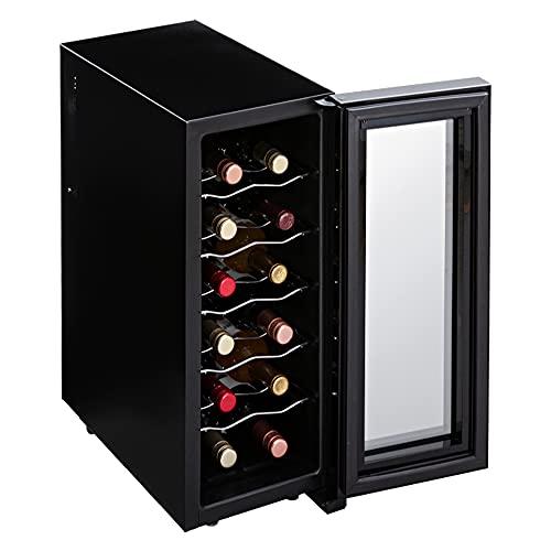 アイリスオーヤマ ワインセラー 12本収納 33L 12~18℃ ペルチェ式 庫内LED ミラーガラス メーカー1年保証 PWC-331P-B