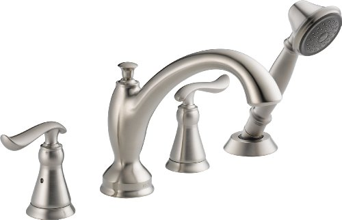 Delta Faucet T4794-SS Linden Roman Tub with Hand Shower Trim, Stainless