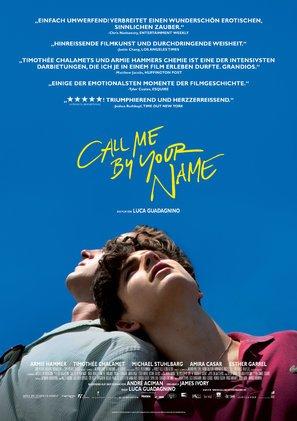 """Poster del film """"Chiamami col tuo nome"""", in lingua tedesca, 30 x 43 cm"""