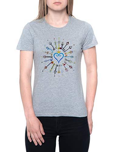 Delavi Llaves Espada Camiseta Mujer Gris T-Shirt Women's Grey