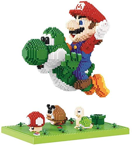 QSSQ Micro Building Blocks for Kids Adult, Modelo Multi-Style Super Mario Dinosaur, Mini DIY Building Juguetes Educativos Diversión Nano Ladrillo, Dinosaur