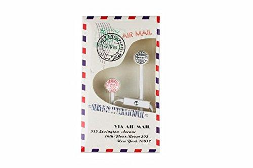 DISOK - Auriculares Airmail En Caja De Regalo - Auriculares para Detallitos de Bodas, Recuerditos y Regalitos para Comuniones y Bautizos Hombres, Adolescentes
