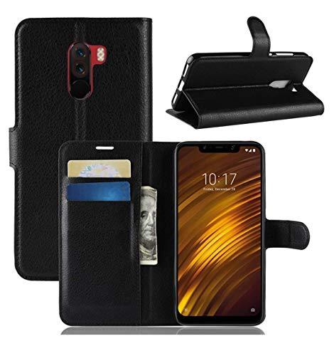 Capa Carteira Preta Flip Premium Xiaomi Pocophone F1-6.18 Polegadas