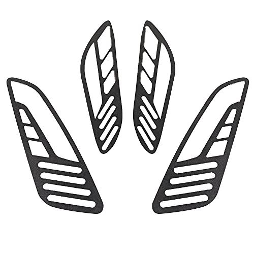 Para VESPA SPRINT PRIMAVERA 150 motocicleta delantera trasera señal de giro indicador caso neto lámpara cubierta de malla para todos los años (color: negro)