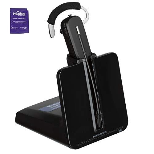 Renewed Power Supply Not Included Polycom VVX410 Desk Phone Bundle with Headset Advisor Wipe