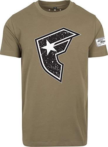 Famous Stars and Straps Herren Composition T-Shirt, Olive, XL