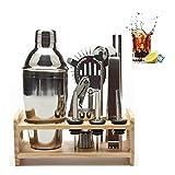 BAIYAN 12 unids Drink Bar Kits Jarras de Vino para la Cocina Elaboración de Madera Hack Shaker Professional Cocktail Mezclador Bartender Herramienta Set Cocina Inicio (Color: 750ml) (Color : 550ml)