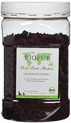 Biopur Bio Aanvullende voering voor honden rode bedden vlokken, per stuk verpakt (1 x 250 g)