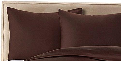 Wamsutta Finest Sateen KING Pillowcases 725 TC Assorted Colors (CHOCOLATE)