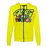 Valentino Rossi Vr46 Classic-46 The Doctor, Full Zip Hoodie Hombre, Amarillo, L