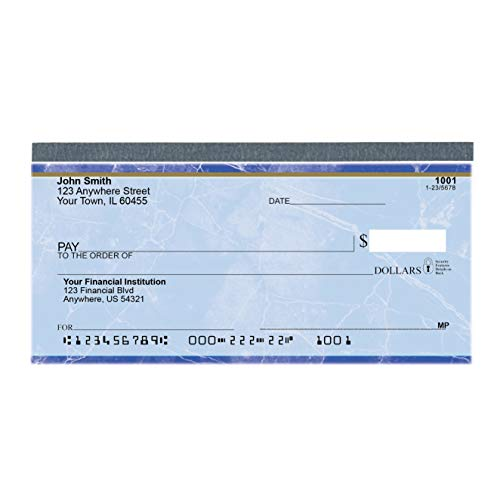 Value Price Blue Marble Top Tear Personal Checks (1 Box of Duplicates, Qty. 100)