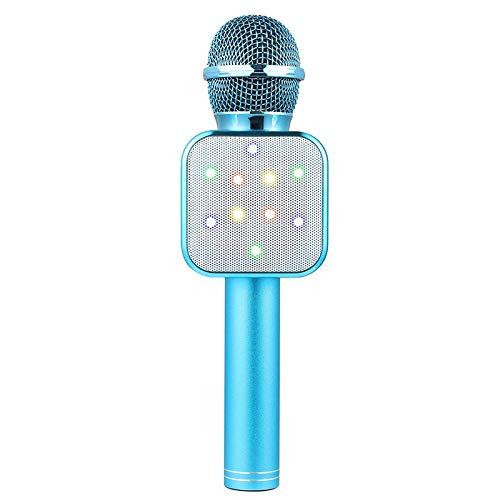 Bobin MicróFono de Mano InaláMbrico Altavoz MicróFonos LED Azules para Maestros en LíNea NiiOs NiiOs