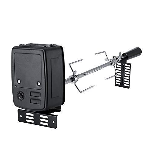 Kit de parrilla para asador de barbacoa, kit de asador de parrilla de acero inoxidable de alta resistencia con 2 horquillas para asar Sus304, 1 soporte de motor y accesorios necesarios para asador