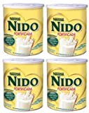 Nestle NIDO Fortificada Whole Milk Powder 56.3 oz. Canister, Powdered Milk Mix (Pack of 4)