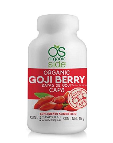 Goji Berry (Bayas De Goji) 30 Cápsulas De 500 Mg Organic Side.