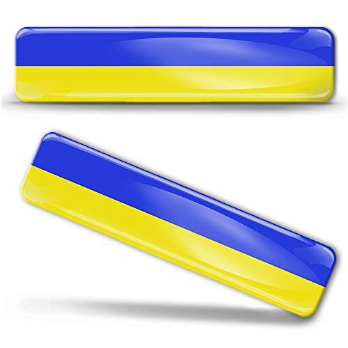Biomar Labs 2 x sticker 3D gel siliconen stickers Oekraïne vlag vlag vlag vlag autosticker F 25