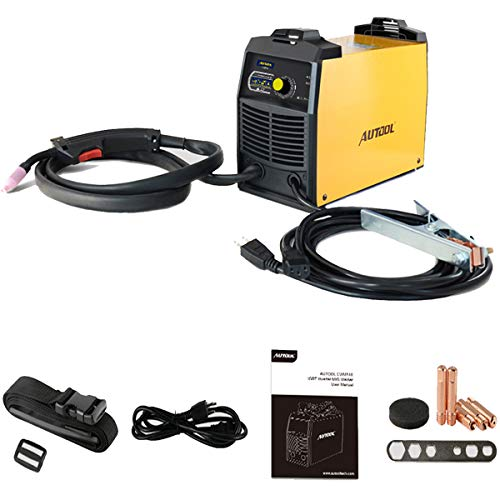 Gasless Inverter MIG Welder, 110V, 30-90A DC Output, IGBT Portable Welding Machine with 3 Years Warranty, Automatic Feed Flux Core Welder With above 80% Efficiency and IP21 Protection, 12Lbs (M518)