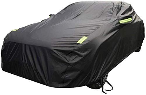 SDFGFGH Car-Cover Kompatibel mit Mitsubishi Car Cover Car Kleidung Dick Oxford Cloth Sonnenschutz Regen-Abdeckung Auto-Cloth Car Cover Car Cover (Color : Black, Size : One Size)