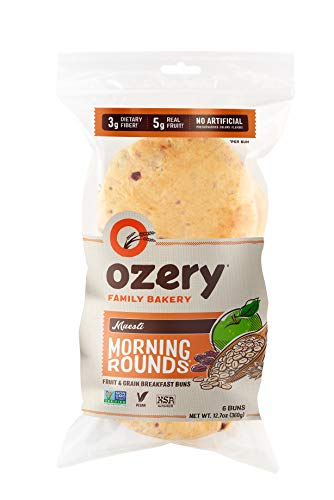 Ozery Bakery, Muesli Morning Rounds Pita Bread, Vegan, Non-GMO, & Kosher, 12.7 Ounce, 6-Count Bags, (Pack of 2)