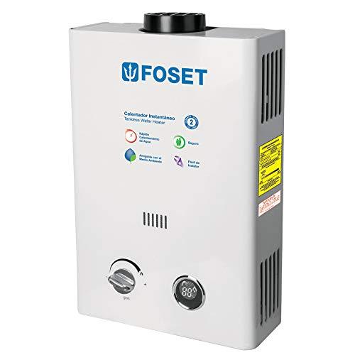 Foset CALE-6I, Calentador de agua de paso, instantáneo, 6 L/min