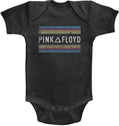 Générique Pink Floyd - - Unisexe-Baby Rainbows Onesie, 12M, Vintage Smoke