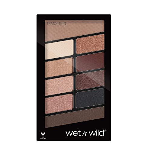 Wet n Wild – Lidschatten Palette Make-up, 10 hochpigmentierte Farben - Mix aus Schimmer + Matt in einer Lidschattenpalette, Nude Awakening, 1 Stk. 10g
