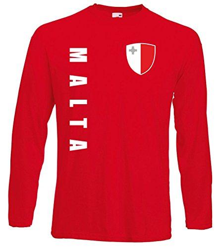 aprom Malta Langarm T-Shirt Trikot LS-Spa Rot Longsleeve (S)