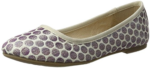 Tamaris Damen 22151 Geschlossene Ballerinas, Violett (Lavender Dots), 38 EU