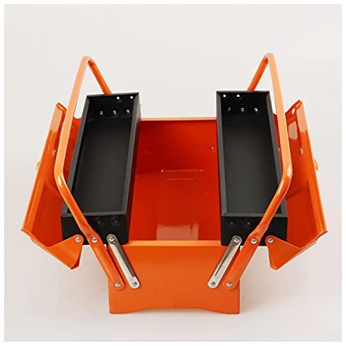Caja de herramientas de transporte Caja de herramientas de hierro plegable de múltiples capas Reparación portátil Caja de electricista Coche de hogar Hardware Organizadores y almacenamiento Cofre port