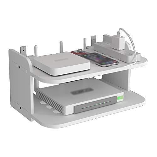 JIE KE Multifunción Caja de Almacenamiento enrutador WiFi Multifuncional enrutador enrutador de Pared enrutador de Pared Punch-Free Router Storage Rack Cable de Encendido Tablero de Enchufe