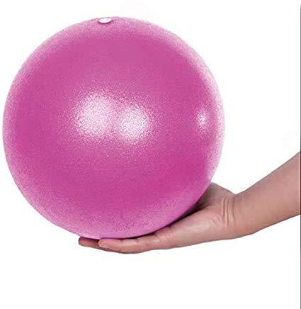 Fresion Gymnastikball Yoga Pilates Ball Kleine Übung Ball, 25cm Dicker Anti-Burst Gymnastikball inkl Ballpumpe, Weich Pilates Ball, Fitness Ball für Yoga,Heim, Büro,Sitzball, Rosa