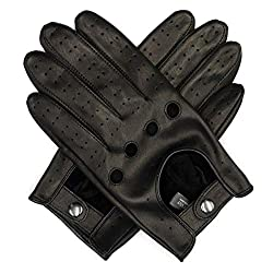Best Driving Gloves In The World - Harssidanzar Men's Leather Driving Gloves Unlined