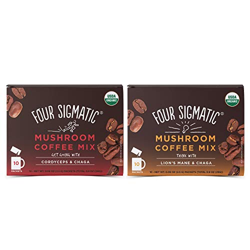 Four Sigmatic Mushroom Coffee Mix Pack of 2 - Lion's Mane and...