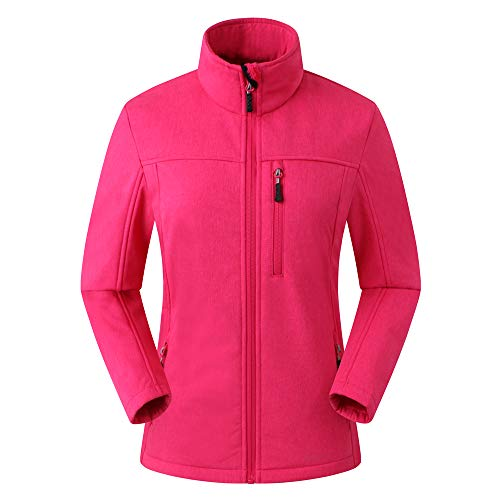 Amazon Marke: Eono Essentials Damen-Softshell-Jacke (Pink Melange, L)|Winterjacke damen