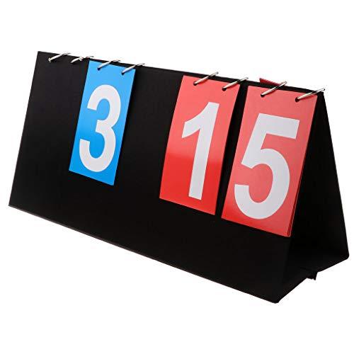 Baoblaze 4 digital Anzeigetafel Score Flipper Zählgerät Zähltafel für Tischtennis