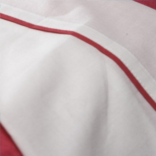 Jollein 008-511-64495 Laken, 75 x 100 cm, wit met paspel fuchsia
