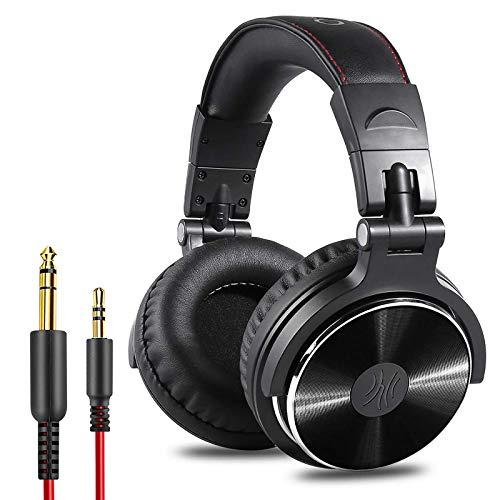 OneOdio Pro10 Casque Audio Studio Professionnel, Casque Filaire, Casque de Monitoring, Son Parfait pour Synthétiseur PC TV Tablette Smartphone (Noir)