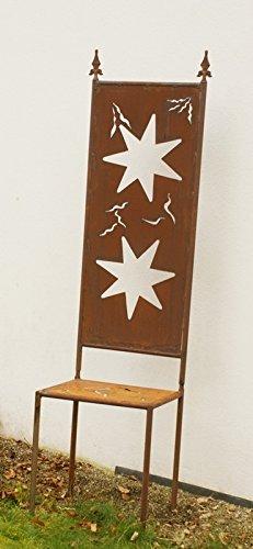 Gartendekoshop24 Weihnachtsdeko Rost Eisen Motiv Sterne Stuhl
