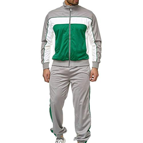 Ensemble Pantalon de Sport + Sweat-Shirt Jogging Survêtement Veste Manteau Homme Tenue de Sport Ensemble Muscle Bodybuilding Jogging