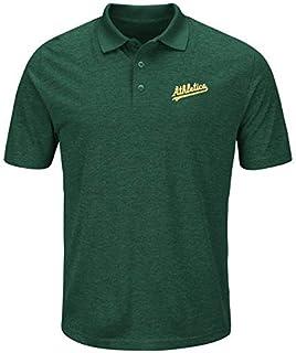 Majestic Majestic Oakland Athletics Green Endless Flow Cool Base Polo シャツ ポロシャツ 【並行輸入品】