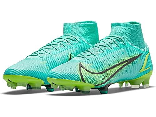 Nike Superfly 8 Elite FG, Zapatillas de fútbol Hombre, Dynamic Turq Lime Glow, 40 EU