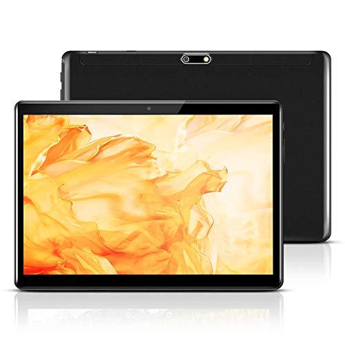 Tablet 10 Pollici Android 9.0 Pie,Octa Core,4GB RAM,64GB Memoria Interna,Suono Stereo con Doppio Altoparlante,Bluetooth GPS OTG (Nero)