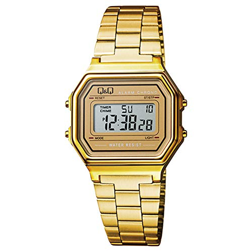 Q&Q Men's' M173J002Y Digital Watch with Stainless Steel Band